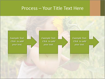Girl And Sunflower PowerPoint Template - Slide 88