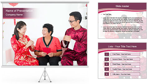 Chinese Family PowerPoint Template