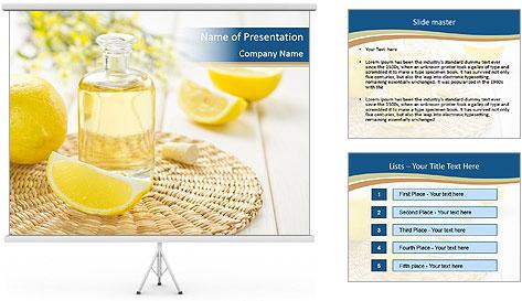 Lemon Essential Oil PowerPoint Template