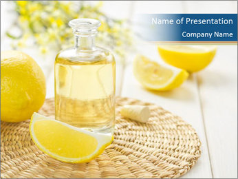 Lemon Essential Oil PowerPoint Template - Slide 1