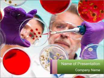Blood Test PowerPoint Template - Slide 1
