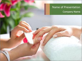 Luxury Manicure Salon PowerPoint Templates - Slide 1