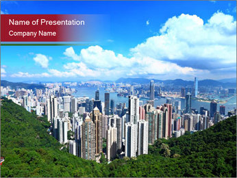 City And Forest PowerPoint Template - Slide 1