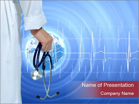 Doctor Holding Stethoscope PowerPoint Templates