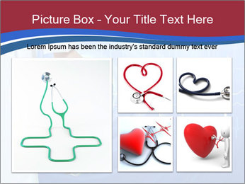 Doctor Holding Stethoscope PowerPoint Templates - Slide 19