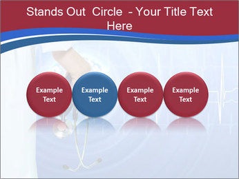 Doctor Holding Stethoscope PowerPoint Templates - Slide 76