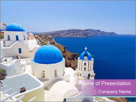 Sunny Santorini PowerPoint Template