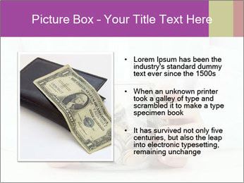 Glass Bowl With Coins And Dollar Notes PowerPoint Templates - Slide 13