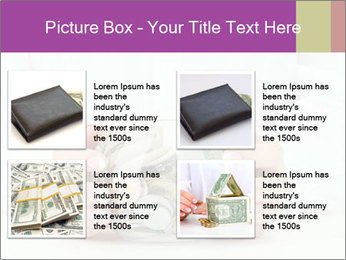 Glass Bowl With Coins And Dollar Notes PowerPoint Templates - Slide 14