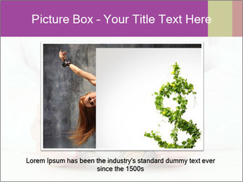 Glass Bowl With Coins And Dollar Notes PowerPoint Templates - Slide 16