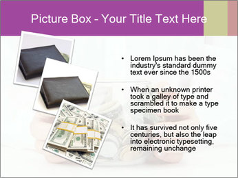 Glass Bowl With Coins And Dollar Notes PowerPoint Templates - Slide 17
