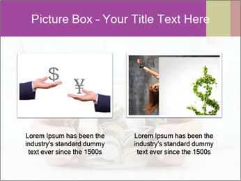 Glass Bowl With Coins And Dollar Notes PowerPoint Template - Slide 18