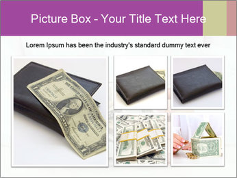 Glass Bowl With Coins And Dollar Notes PowerPoint Templates - Slide 19