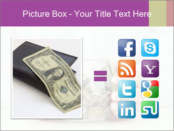 Glass Bowl With Coins And Dollar Notes PowerPoint Templates - Slide 21