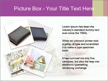 Glass Bowl With Coins And Dollar Notes PowerPoint Templates - Slide 23