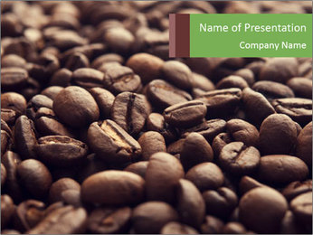 Natural Coffee Beans PowerPoint Templates - Slide 1