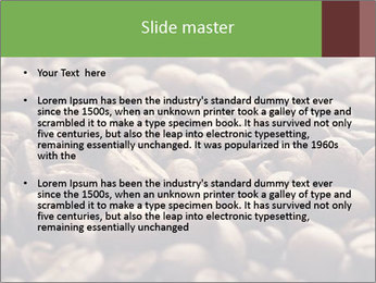Natural Coffee Beans PowerPoint Templates - Slide 2