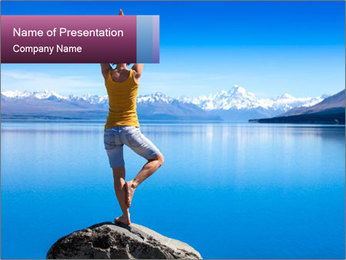 Yoga Girl PowerPoint Template - Slide 1