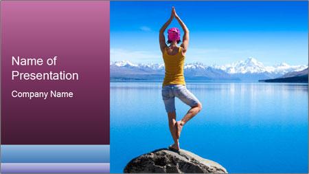 Yoga Girl PowerPoint Template