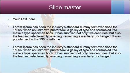 Yoga Girl PowerPoint Template - Slide 2
