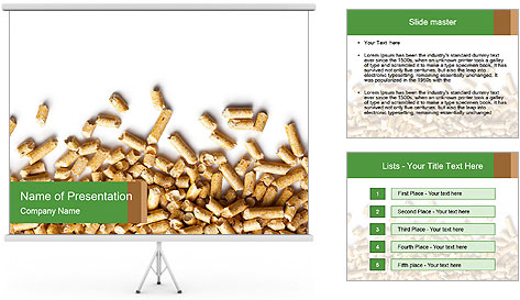 Wooden pellets PowerPoint Template