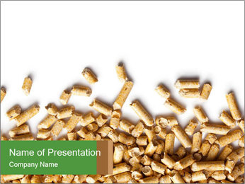 Wooden pellets PowerPoint Templates - Slide 1