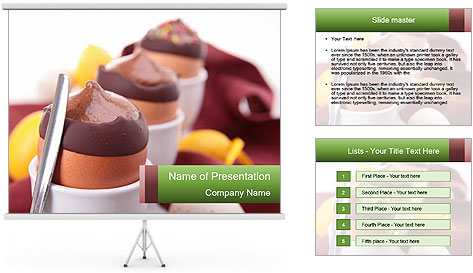 Chocolate mousse PowerPoint Template