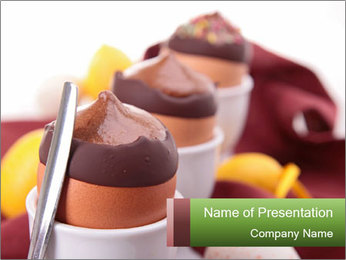 Chocolate mousse PowerPoint Template - Slide 1