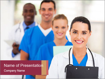Group of health care workers PowerPoint Template