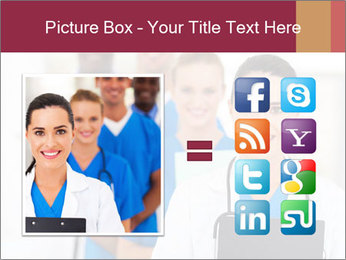 Group of health care workers PowerPoint Template - Slide 21