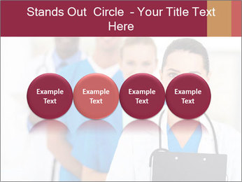 Group of health care workers PowerPoint Templates - Slide 76