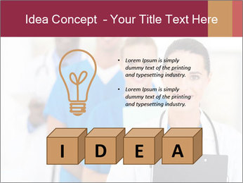 Group of health care workers PowerPoint Templates - Slide 80