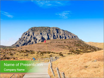 Hallasan mountain PowerPoint Template