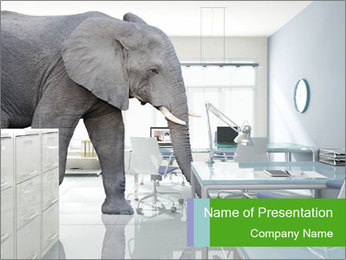 Elephant PowerPoint Template - Slide 1