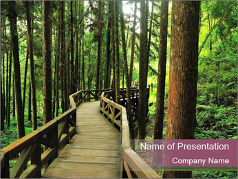 Wooden road PowerPoint Templates - Slide 1