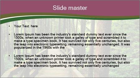 Wooden road PowerPoint Template - Slide 2