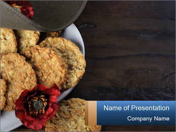 Chocolate muffin PowerPoint Template - Slide 1