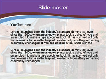 Red brick house PowerPoint Template - Slide 2