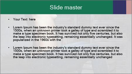 Beautiful sexy woman sitting PowerPoint Template - Slide 2