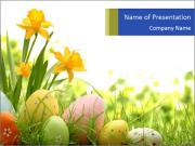 Easter eggs PowerPoint Template
