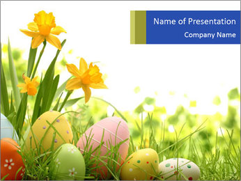 Easter eggs PowerPoint Templates - Slide 1