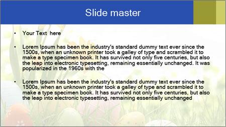 Easter eggs PowerPoint Template - Slide 2