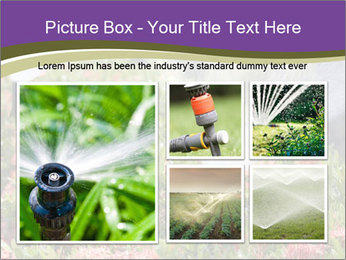 Sprinkler head watering PowerPoint Template - Slide 19