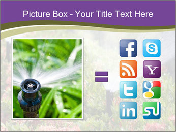 Sprinkler head watering PowerPoint Template - Slide 21