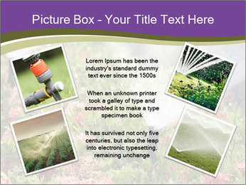 Sprinkler head watering PowerPoint Template - Slide 24