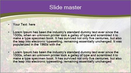 Sprinkler head watering PowerPoint Template - Slide 2