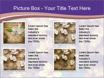 Vintage photo of pink cherry tree PowerPoint Template - Slide 14