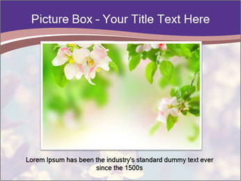 Vintage photo of pink cherry tree PowerPoint Template - Slide 15