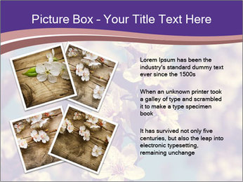 Vintage photo of pink cherry tree PowerPoint Template - Slide 23