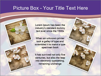 Vintage photo of pink cherry tree PowerPoint Template - Slide 24